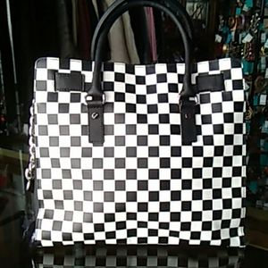 BLK/WHT Checkered Michael Kors Handbag